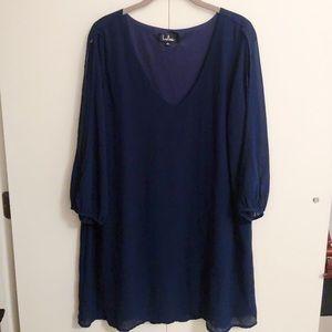 Open-sleeve Blue Lulus dress!